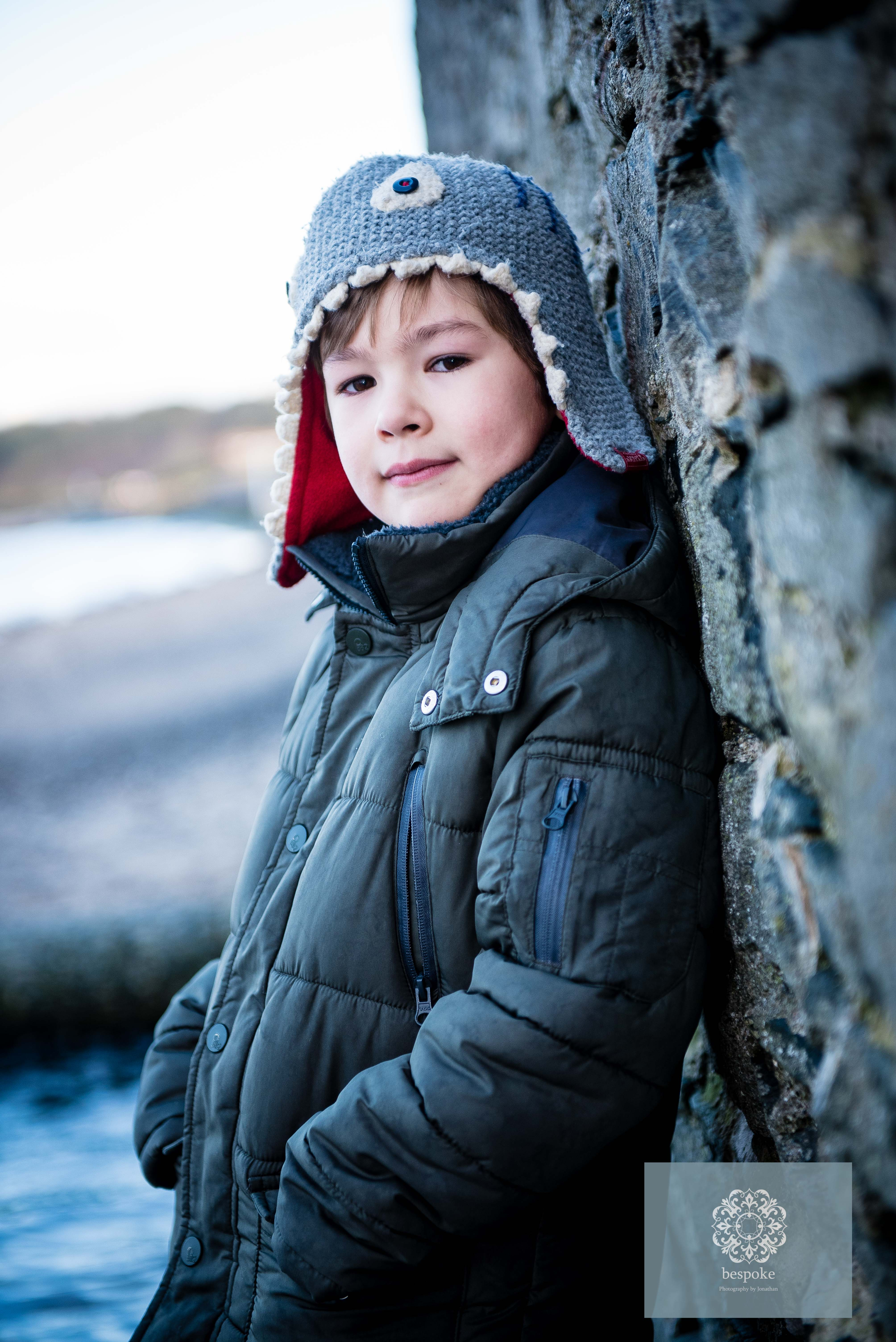 A childrens Portrait photographed in Bangor, Ballyholme Beach